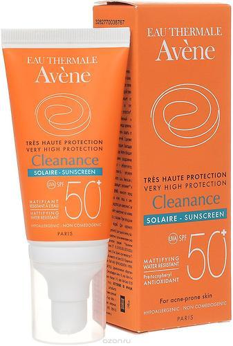 Эмульсия солнцезащитная для кожи с акне Avene Cleanance SPF50+ 50 мл (4)