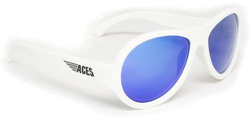 Солнцезащитные очки Babiators Aces Aviator - Wicked white (Белый - синие линзы) 6+ (8)