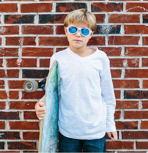Солнцезащитные очки Babiators Aces Aviator - Wicked white (Белый - синие линзы) 6+ (11)