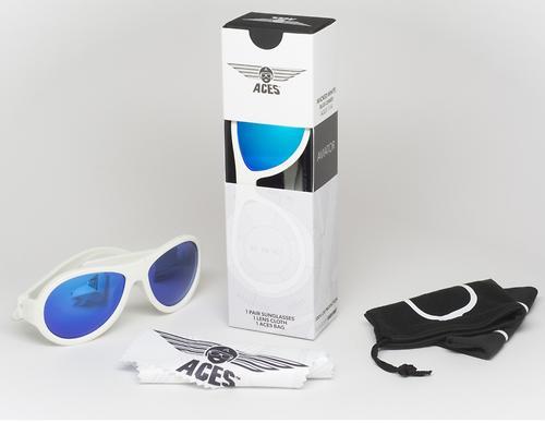 Солнцезащитные очки Babiators Aces Aviator - Wicked white (Белый - синие линзы) 6+ (10)