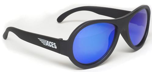 Солнцезащитные очки Babiators Aces Aviator - Black Ops (Чёрный - cиние линзы) 6+ (7)