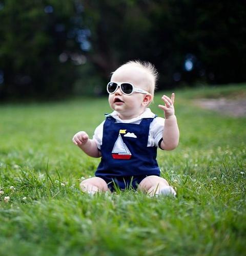 Солнцезащитные очки Babiators Original Aviator Junior - Wicked white 0-2 лет (12)