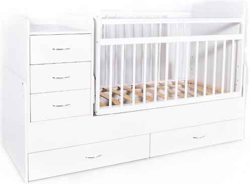Кровать-трансформер детская Bambini M 01.10.01 Белая фасад МДФ (4)