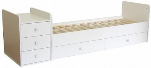 Кровать-трансформер детская Bambini M 01.10.01 Белая ЛДСП (5)