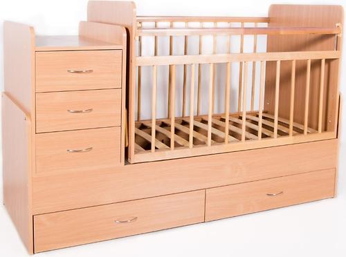 Кровать-трансформер детская Bambini M 01.10.01 Натуральный ЛДСП (4)