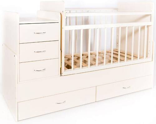 Кровать-трансформер детская Bambini M 01.10.01 Слоновая кость фасад МДФ (4)