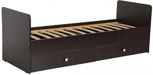 Кровать-трансформер детская Bambini M 01.10.01 Темный орех фасад МДФ (5)