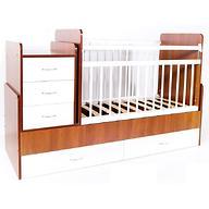 Кровать-трансформер детская Bambini M 01 10 01 Светлый орех+Белый фасад МДФ