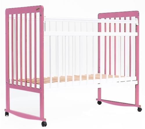 Кровать детская Bambini Евро стиль М 01.10.03 Бело-Розовый (4)