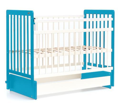 Кровать детская Bambini Евро стиль М 01.10.04 Бело-Голубой (4)