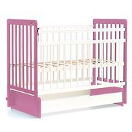 Кровать детская Bambini Евро стиль М 01.10.04 Бело-Розовый
