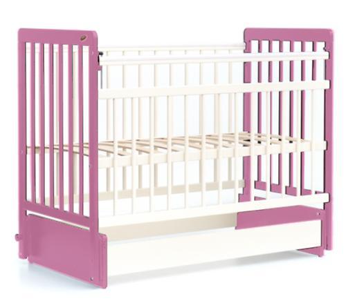 Кровать детская Bambini Евро стиль М 01.10.04 Бело-Розовый (4)