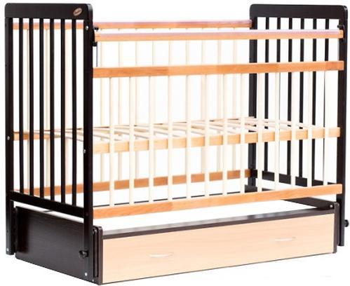 Кровать детская Bambini Евро стиль М 01.10.04 Темный орех+Натуральный (4)