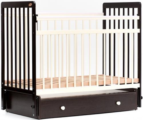 Кровать детская Bambini Евро стиль M 01.10.04 Темный орех+Слоновая кость (5)