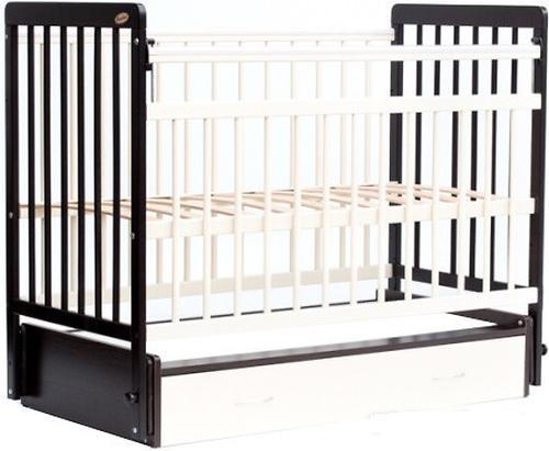 Кровать детская Bambini Евро стиль M 01.10.04 Темный орех+Слоновая кость (6)