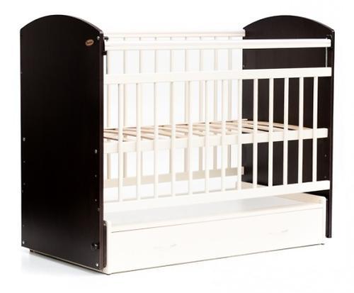 Кровать детская Bambini Элеганс M 01.10.07 Темный Орех+Слоновая кость (1)