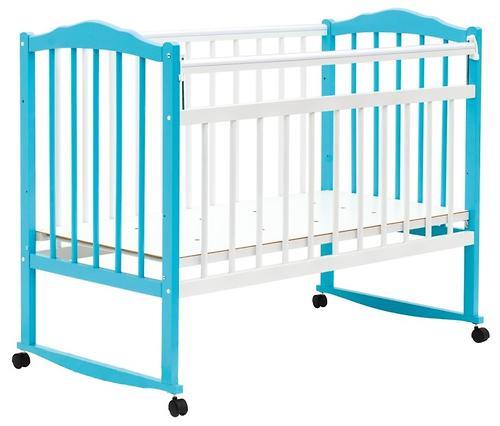 Кровать детская Bambini Классик М 01.10.09 Бело-Голубой (1)