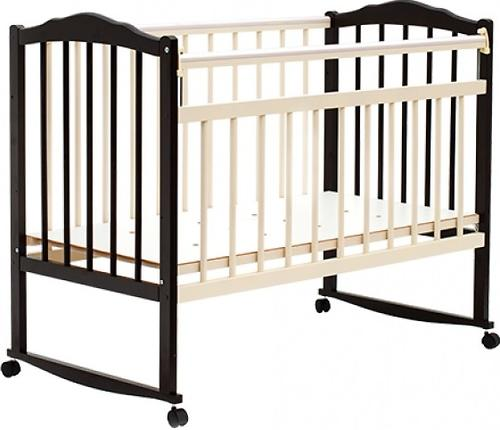 Кровать детская Bambini Классик M 01.10.09 Темный орех+Слоновая кость (1)