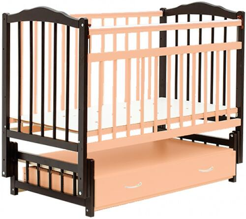 Кровать детская Bambini Классик М 01.10.10 Темный орех+Натуральный (1)