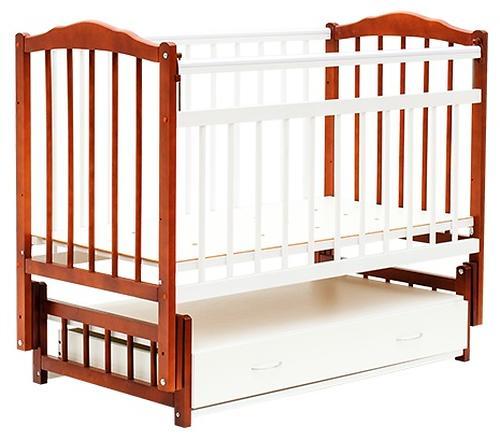 Кровать детская Bambini Классик М 01.10.10 Светлый орех+Белый (1)