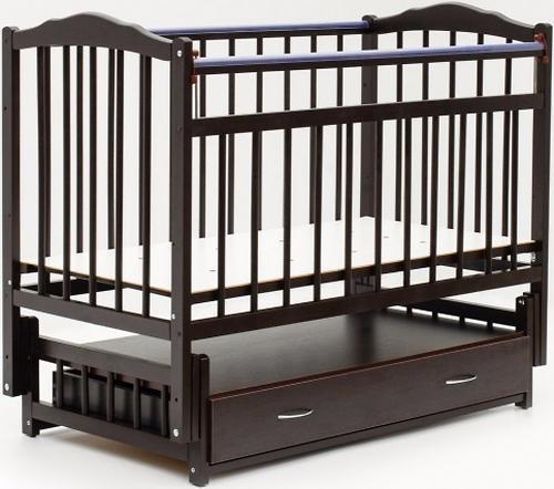 Кровать детская Bambini Классик M 01.10.10 Темный орех (1)