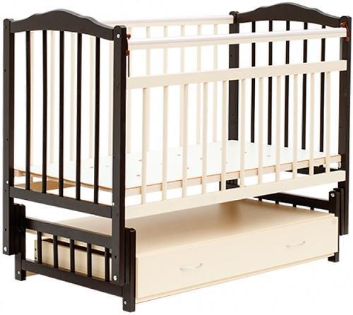 Кровать детская Bambini Классик M 01.10.10 Темный орех+Слоновая кость (1)