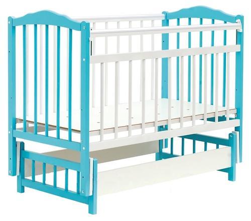 Кровать детская Bambini Классик М 01.10.11 Бело-Голубой (1)