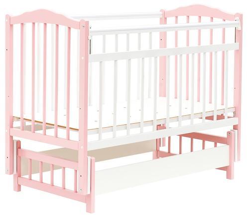 Кровать детская Bambini Классик М 01.10.11 Бело-Розовый (1)