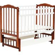 Кровать детская Bambini Классик М 01.10.11 Светлый орех+Белый
