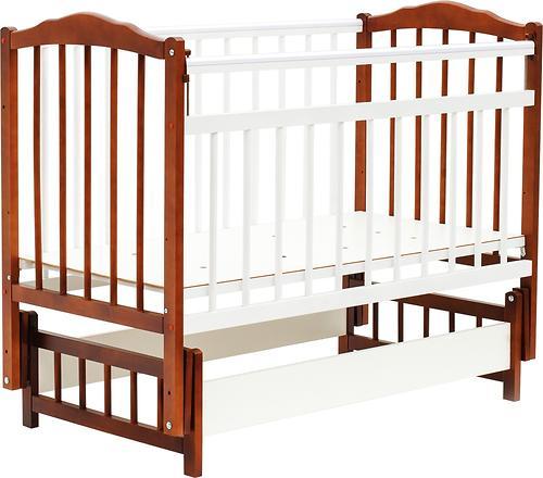 Кровать детская Bambini Классик М 01.10.11 Светлый орех+Белый (1)