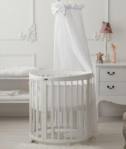 Кроватка детская Bambini овальная М 01.10.14 Слоновая кость (9)
