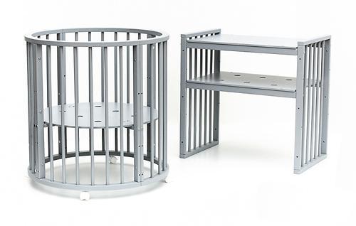 Кроватка детская Bambini овальная М 01.10.14 Серый (11)