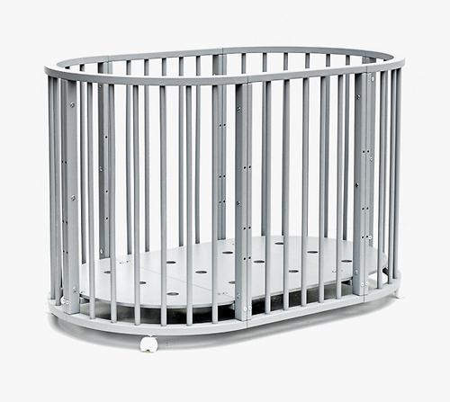 Кроватка детская Bambini овальная М 01.10.14 Серый (13)