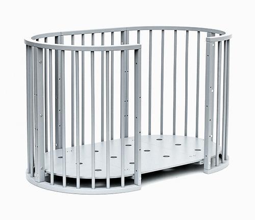 Кроватка детская Bambini овальная М 01.10.14 Серый (14)