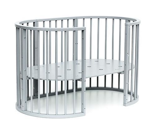 Кроватка детская Bambini овальная М 01.10.14 Серый (15)