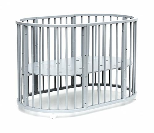 Кроватка детская Bambini овальная М 01.10.14 Серый (16)