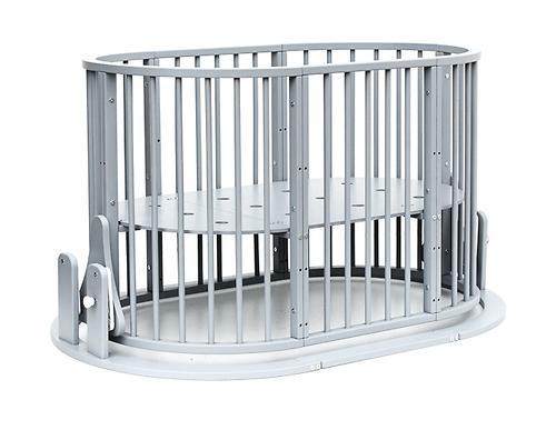 Кроватка детская Bambini овальная М 01.10.14 Серый (17)