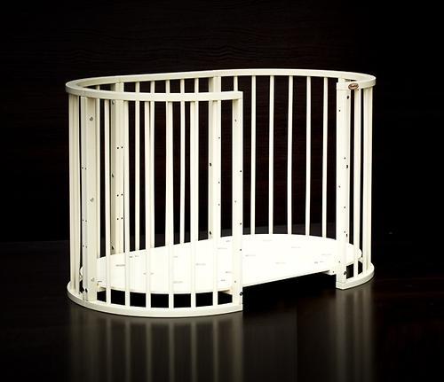 Кроватка детская Bambini овальная М 01.10.14 Слоновая кость (12)