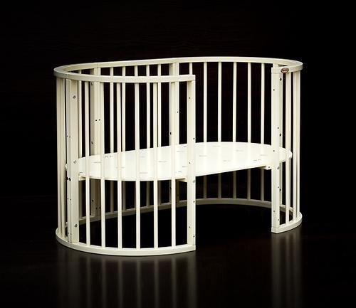 Кроватка детская Bambini овальная М 01.10.14 Слоновая кость (13)