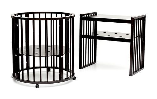 Кроватка детская Bambini овальная М 01.10.14 Темный Орех (11)