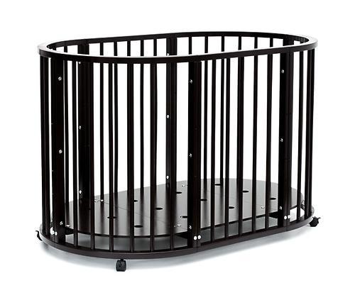 Кроватка детская Bambini овальная М 01.10.14 Темный Орех (13)