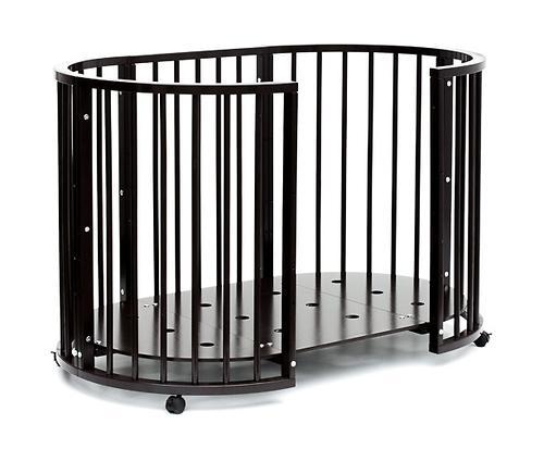 Кроватка детская Bambini овальная М 01.10.14 Темный Орех (14)