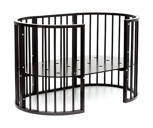 Кроватка детская Bambini овальная М 01.10.14 Темный Орех (15)