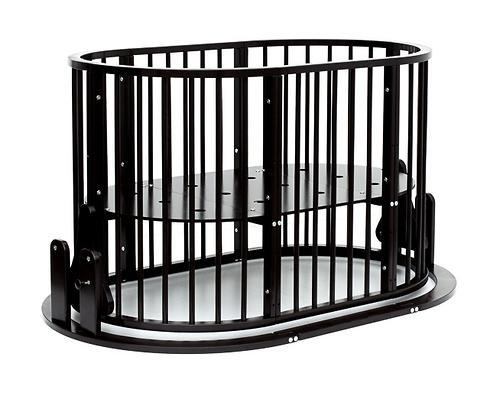 Кроватка детская Bambini овальная М 01.10.14 Темный Орех (17)