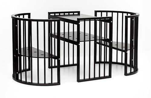 Кроватка детская Bambini овальная М 01.10.14 Темный Орех (18)