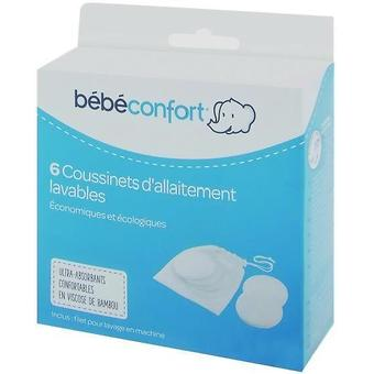 Прокладки Bebe Confort BAMBOO многоразовые для груди 6 шт - Minim