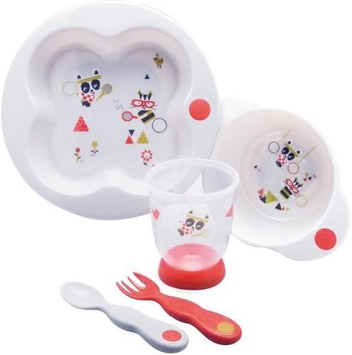 Набор десткой посуды Bebe Confort Белый-Розовый (1)