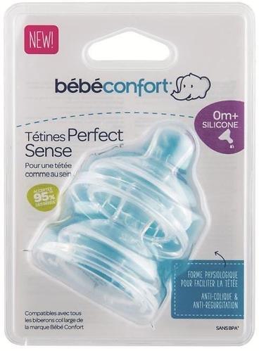 Соска Bebe Confort силиконовая 2шт 0м+ широкая, средний поток (4)