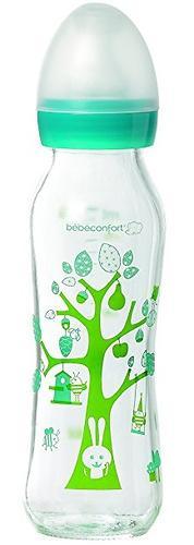 Бутылочка Bebe Confort стеклянная 240 мл 0-12 мес узкая (1)