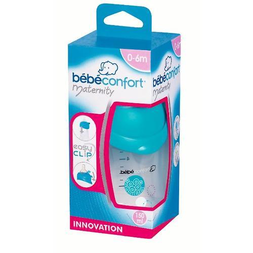 Бутылочка Bebe Confort пластиковая 150ml 0-6м 3*1 Easy Clip голубая (5)